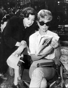 "Comic Patsy Kelly & Doris Day on set of ""Please Don't Eat the Daisies"""