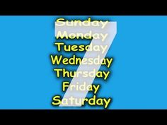 Days of the Week Song for Children - 7 Days of the Week - Children's Son...