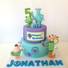 Monster University - by myglorioustreats @ CakesDecor.com - cake decorating website