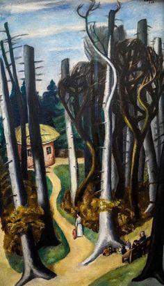 Max Beckmann ~ Lentelandschap ~ 1924 ~ Olieverf op doek ~ 95,5 x 55 cm. ~ Museum Ludwig, Keulen ~ © DACS, 2016