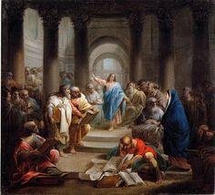 Jacques Gamelin (1738-1803) : Jésus au milieu des Docteurs. (don Changeux) Peintures des Musées de France: MEAUX