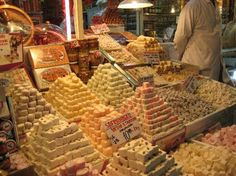 Istanbul, Turkey: Turkish Delight called Lokum at the Bazaar,