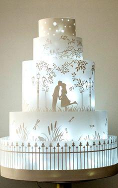 Midnight Garden Cake ~ It lights up