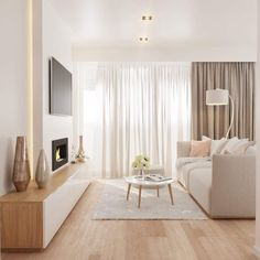 125 gorgeous living room color schemes to make your room cozy page 31 Apartment Interior, Room Interior, Interior Design Living Room, Living Room Designs, Interior Livingroom, Home Living Room, Living Room Decor, Scandi Living Room, Beige Living Rooms