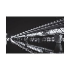 #photo - #Tempe Town Lake at Night Canvas Print