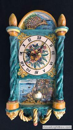 Orologio-a-pendolo-stile-antico-decoro-Positano