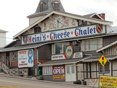 Holmes County Ohio, Amish Country. Heini's cheese chalet.