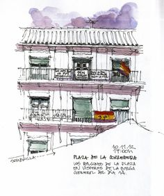 Córdoba, la Corredera, balconies | by Luis_Ruiz