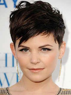 Short Haircuts for Heart Shaped Faces: Fringed Pixie Cut, Ginnifer Goodwin