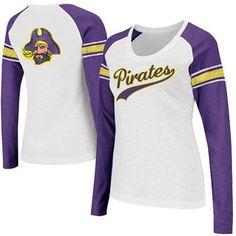 East Carolina Pirates Ladies Sycamore Raglan Long Sleeve T-Shirt - White/Purple