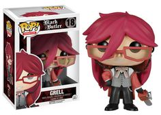 Got this one along with Sebby!! Words cannot describe how happy I am!! Funko POP! Animation: Black Butler - Grell