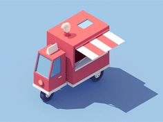 Loving these series of surreal animated GIFs by New York-based artist and illustrator Carl Burton. More animated GIFs via Behance Anim Gif, Gif Animé, Animated Gif, Low Poly, 3d Cinema, Microcar, Isometric Art, Isometric Design, Gifs