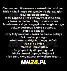 Jezus na Ciebie patrzy Funny Quotes, Funny Memes, Jokes, Polish Memes, Weekend Humor, Old Memes, Text Memes, Wtf Funny, Man Humor