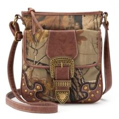 Realtree Camouflage Buckle Crossbody Bag