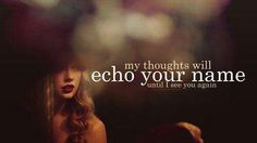 These are the words I held back, as I was leaving to soon. I was enchanted to meet you ♡.  Enchanted - Taylor Swift.