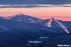 Ruka Ski Resort from Konttainen, Kuusamo, Finland (22.2.2013)...