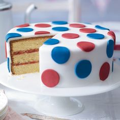 Waitrose Easy polka-dot Jubilee cake recipe.