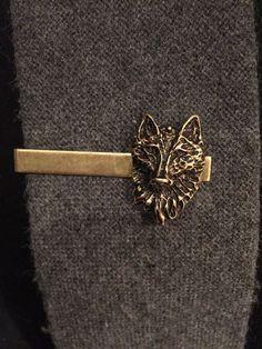 Dire Wolf Mens Accessories Wolf Tie Clip by ArcanumByAerrowae