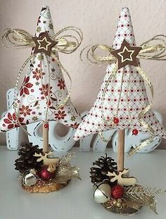 Fabric Christmas Ornaments, Christmas Tree Crafts, Christmas Sewing, Christmas Love, Christmas Projects, Holiday Crafts, Christmas Decorations, Sewing Crafts, Creations
