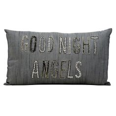 Kathy Ireland ''Good Night Angels'' Throw Pillow, Silver