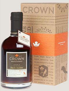 Yes, please! Dark amber maple syrup from Crown Maple Syrup in New York state. Yum.