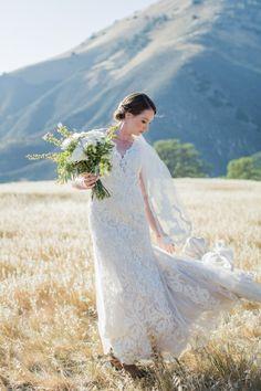 lacy wedding dress - photo by Kiel Rucker Photography http://ruffledblog.com/vendors/kiel-rucker-photography/
