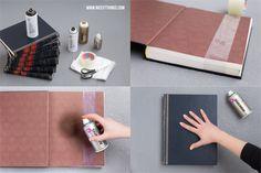 DIY: Selbstgemachter Tisch aus alten Büchern mit Marmoreffekt