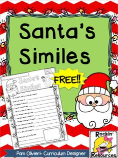 Enjoy this free item where students complete similes related to the holidays!It is part of this product:Figurative Language for the Holidays BundleThis is also part of our Christmas bundle loaded with Common Core literacy activities,