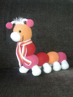 Rups Roos, made from a pattern by Stipenhaak.nl