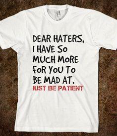 Dear haters