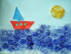 Tapa d'estiu    Painting with bubble wrap