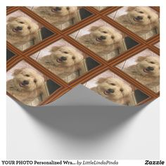 """YOUR PHOTO Personalized Wrapping Paper. CLICK: https://www.zazzle.com/z/oh6p5?rf=238147997806552929 Click """"Change"""" to Add Your SQUARE Photo which will show up under a wooden look printed frame. Fantastic Personalized Christmas Wrapping Paper, Birthday Gift Wrapping Paper or ANY Occasion. Thousands of personalized gifts HERE: CLICK HERE: https://www.Zazzle.com/LittleLindaPinda?rf=238147997806552929 Call Zazzle Designer for HELP or CHANGES: 239-949-9090"""