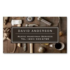 323 best carpenter business cards images on pinterest in 2018 vintage rustic tools carpenter handyman woodworker business card magnet accmission