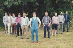 Stylish groom and groomsmen