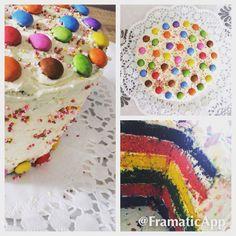 Rainbowcake,colorful,sister,birthday,yummi.