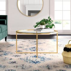 Mistana™ Izabella End Table & Reviews | Wayfair Cool Coffee Tables, Coffee Table With Storage, White Area Rug, Beige Area Rugs, Blue Area, Wood Slats, Counter Stools, Bar Counter, Stores