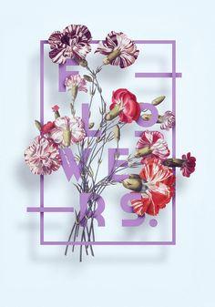 Typography illustration poster