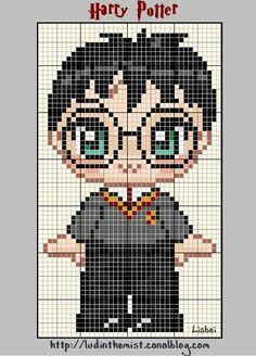 Cute Harry Potter perler bead pattern