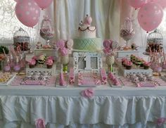 "Shabby chic / Birthday ""Little Cute Bird Party"" 