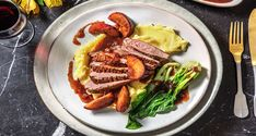 We love a good Duck with Bok Choy and Plum Sauce and this deliciously simple, chef-curated recipe doesn't disappoint. Chinese 5 Spice, Creamy Mash, Hello Fresh Recipes, Plum Sauce, Potato Mashers, In The Flesh, Sauce Recipes, Tray Bakes, Bacon