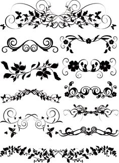 floral vectors | Ornaments Floral Vector Graphic