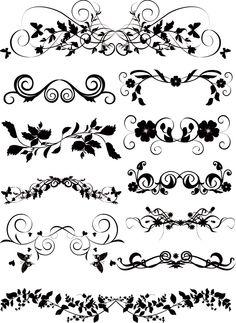 floral vectors | Ornaments Floral Vector Graphic