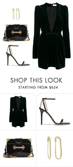 """""""Untitled #4009"""" by camilae97 ❤ liked on Polyvore featuring Yves Saint Laurent, Jimmy Choo and Prada"""