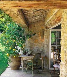 ~Provence Terrace, Terraza Provence Interior Design Interior Provenzal  Francés Campo Campiña Diseño Interiorismo. Trees In PotsPotted ...