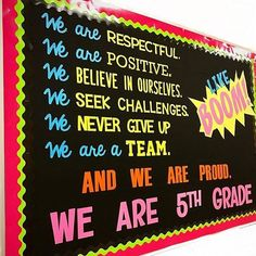 81 Back-to-School Bulletin Board Ideas from Creative Teachers Classroom Ideas – Get the best back-to-school bulletin board ideas right here from WeAreTeachers' most creative educators. You'll want to steal these ideas! Diy Classroom Decorations, School Decorations, Classroom Themes, Classroom Organization, Classroom Displays, Classroom Management, Organizing, 5th Grade Classroom, Classroom Door