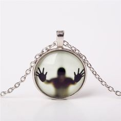 Shadow glow in the dark pendant necklace