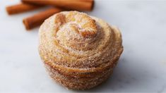 Churro Puff Pastry Muffin Recipe by Tasty