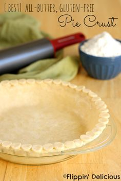 This truly is the {Best} All-Butter Gluten-Free Pie Crust. Oh so tender, flaky, and it holds up well enough you can pick up a piece of pie with your hand. Buttery pie perfection right here! #glutenfree #pie