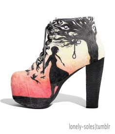 The Hanging Tree poem shoes from The Hunger Games on LONELY-SOLES i want these!!!!