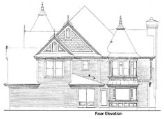 Victorian House Plan chp-44458 at COOLhouseplans.com